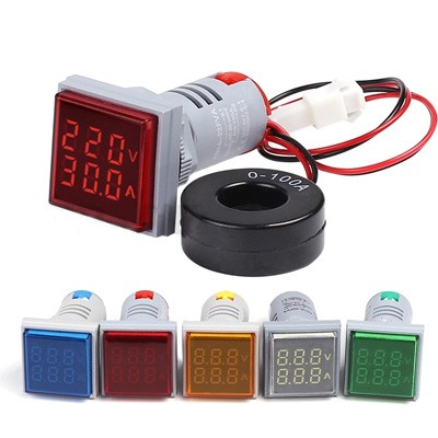 22mm LED Digital Ammeter & Voltmeter